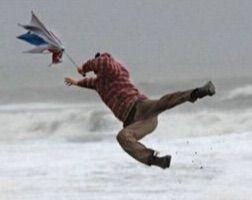 風強い日のセット
